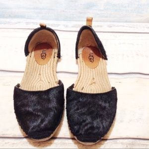 UGG Australia Espadrille Woven Cow Hair Shoes